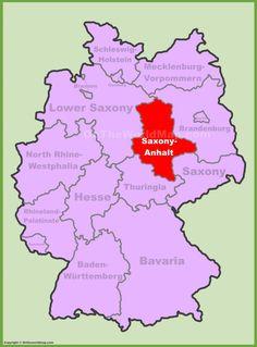 Saxony-Anhalt location on the Germany map