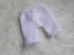 pantalon bébé en laine layette blanche , cadeau de naissance : Mode Bébé par bebelaine
