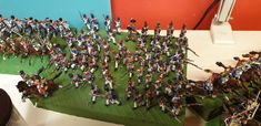 These plastic scale soldiers are painted and ready for sending to the customer. Napoleonic era, but also second and First WW, medieval, Roman, etc. Military Figures, Soldiers, Roman, Medieval, Scale, Miniatures, Plastic, Hand Painted, Painting