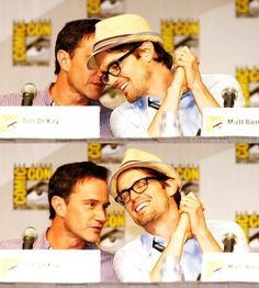 I can't tell who has a better bromance, Neil and Peter from White Collar or Arthur and Merlin from Merlin :)