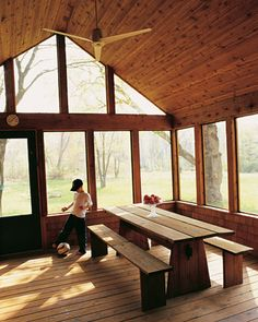 Love a screened porch.