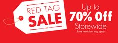 Tomorrow is the LAST DAY to save up to 70% in stores during the Red Tag Sale! http://www.samuelsjewelers.com