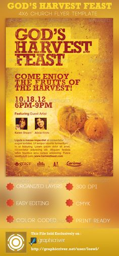 harvest festival church flyer template church flyers photoshop poster pinterest flyer template photoshop and churches
