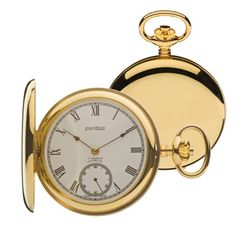 Jean Pierre Gold Hunter Polished Back Pendant Watch, Pocket Watch Antique, Clocks, Artisan, Watches, Antiques, Gold, Accessories