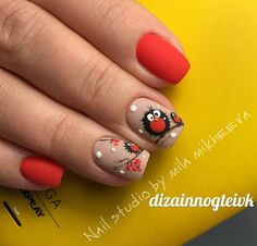Join us❤️😍♥️🥰🧚🏽‍♀️ This beauty nails💅🏽 By:niloofar jafari . beauty nail bar design luxury nails designings as well true baby black pink step nail addicted nail bar art nail desing nila nail art level by level Owl Nails, Xmas Nails, Holiday Nails, Christmas Nails, Fall Acrylic Nails, Fall Nail Art, Stylish Nails, Trendy Nails, Bird Nail Art
