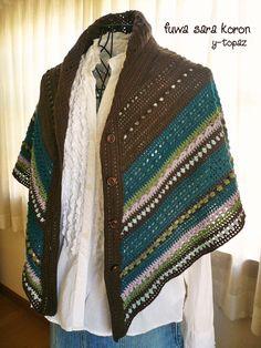crochet shawl poncho http://fuwasarakoron.blog55.fc2.com/