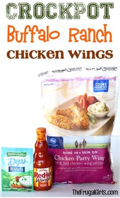 Crockpot Buffalo Ranch Chicken Wings Recipe! ~ from TheFrugalGirls.com ~ this easy Slow Cooker recipe is packed with flavor and the perfect Party Appetizer or Game Day Food! #slowcooker #recipes #thefrugalgirls