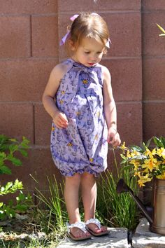 Knot Romper children's clothing sewing pattern PDF tutorial COMBO PACK boys and girls