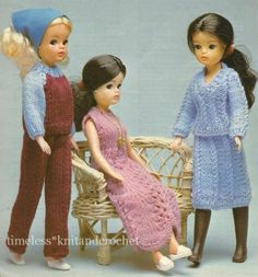 KNITTING PATTERN FOR SINDY / BARBIE DOLL CLOTHES PARTY DRESS, TROUSERS & SUIT | eBay