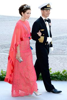 Princess Mary Crown Princess Mary and Crown Prince Frederik  attend the wedding of Princess Madeleine of Sweden and Christopher O'Neill hosted by King Carl Gustaf XIV and Queen Silvia at The Royal Palace on June 8, 2013 in Stockholm, Sweden.