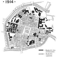 Map of Kalisz - 1914