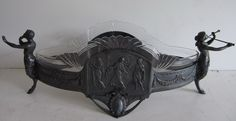 Sublime large art nouveau WMF flower dish with crystal cut glass lining