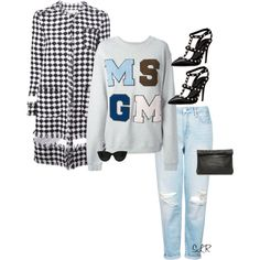 Swift by sheraineleeanna on Polyvore featuring MSGM, Topshop, Valentino and Quay