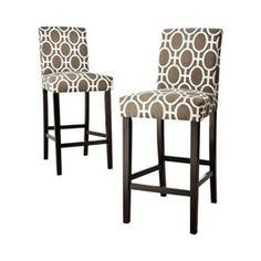 bar stools  ..  any fabric!   But no spin...