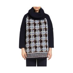 Chunky Check Roll Neck