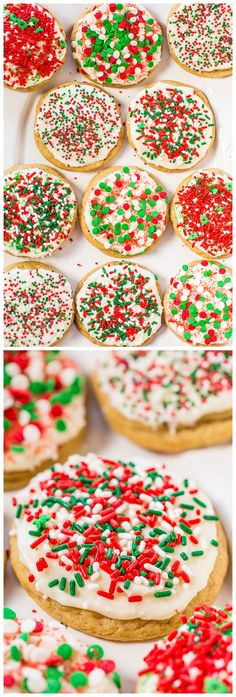 Soft Frosted Holiday Sprinkles Cookies Recipe