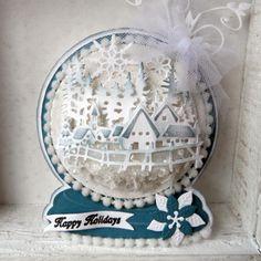 Marianne designs snow globe die from Buddlycrafts.com