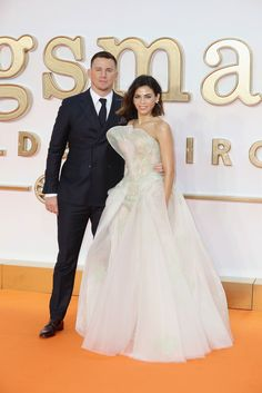 """New Trending Celebrity Looks: Channing Tatum and Jenna Dewan-Tatum Look Super-Hot at the """"Kingsman: The Golden Circle"""" World Premiere. We wish we could provide you a more thorough and precise style assessment than the title suggests, darlings, but the fact is, we're drowning in red carpetry and have a ton of product to ship out today. Sometimes, you've just gotta go with the basic but undeniable observations. These..."""
