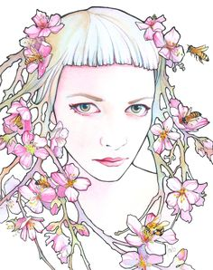 Tracy Lewis | WATERCOLOR and INK | The Beekeeper