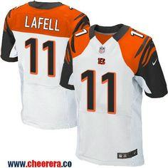 Men's Cincinnati Bengals #11 Brandon LaFell White Road Stitched NFL Nike Elite Jersey