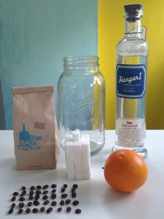 Orange coffee liqueur