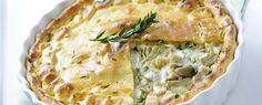 Pie di carciofi e prosciutto