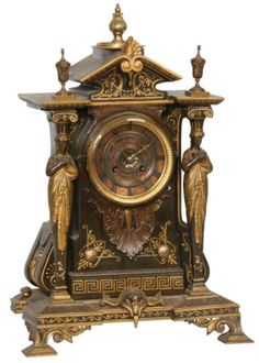 Japy Freres French Bronze Mantle Clock