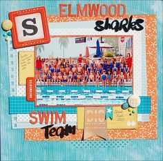 Elmwood Sharks by MadelineFox at @studio_calico Swimming, swim team.