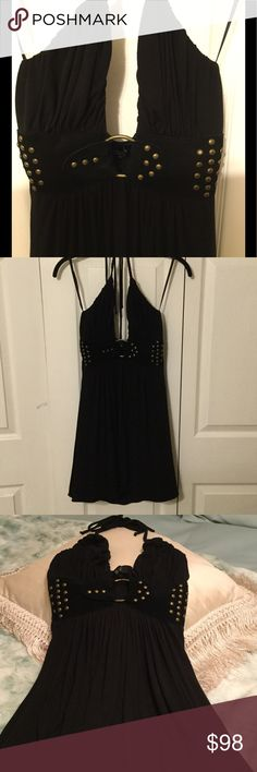 Dress by SKY...sale today Adorable Black short dress with velvet and embellished studs Sky Dresses