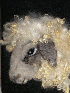 Needle Felted Sheep.
