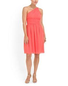 Chiffon One Shoulder Dress