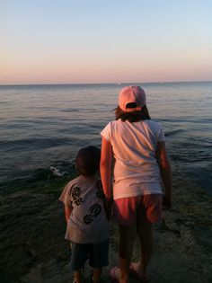 Emma, age 8, and Max, age 4, on the shores of Lake Erie. Submitted by Sarah B. -- Choose your favorite photo and submit your vote by August 6, 2012 for a chance to win a gift card for children's books!