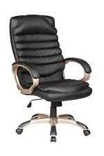 Computer Desk Office Chair PU BLACK LEATHER 360 Degree Swivel NEW! #14