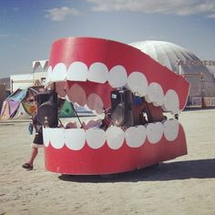 A teeth DJ booth: | 43 Things You're Missing At Burning Man Right Now