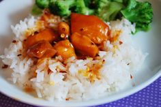 Slow Cooker Orange Chicken  -  ??? calories  -  INGREDIENTS(6):  chicken, salt, frozen orange juice concentrate, brown sugar, balsamic vinegar, ketchup