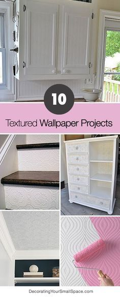 10 Textured Wallpaper Projects • Lots of great Ideas and Tutorials!