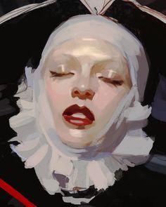 Santa Teresa by ignasi monreal Pretty Art, Cute Art, Bel Art, Portrait Art, Portraits, Arte Fashion, Arte Sketchbook, Art Plastique, Aesthetic Art