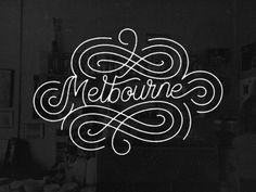 Creative Type, Melbourne, Shot, Lettering, and Gif image ideas & inspiration on Designspiration Typography Love, Typography Inspiration, Typography Letters, Graphic Design Typography, Graphic Design Inspiration, Tattoo Inspiration, Hand Drawn Lettering, Types Of Lettering, Letter Art