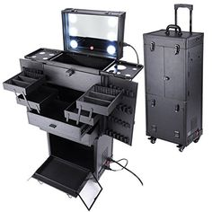 Professional Makeup Train Rolling Case (Cosmetics) (Black) -- See this great product.