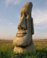 Stunning Easter Island Head Garden Tiki Statue U0027free Shippingu0027