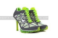 reputable site 04ca4 7954a Nike Air Max 95 High Heels Green Grey Jordan Heels, Air Jordan Shoes, Nike