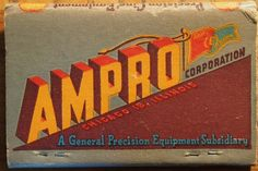 Academy Camera Exchange Newark, NJ (back cover) Ampro Projectors #frontstriker 40 strike #billboard #matchbook Pic. by Joe Danon. To order your business' own branded #matchbooks call 800.605.7331 or goto: www.GetMatches.com Today!