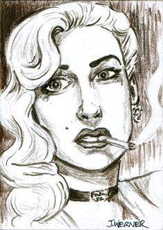 "A 2.5"" x 3.5"" sketch by Joshua Werner, to be randomly inserted in the ""Pulp Detectives"" trading card packs (coming soon)."