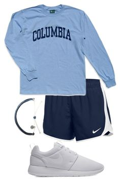""""""""""" by allyson04 on Polyvore featuring NIKE and Columbia"""