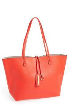 This tote from Nordstrom is great for on the go. The vegan leather makes it durable and affordable.