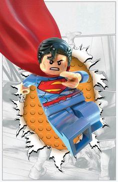 Dc Comics Superman Lego poster