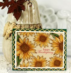 Sunflower Thanksgiving by Sharon Harnist