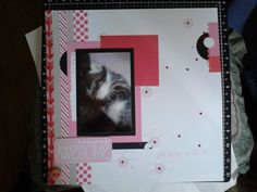 Inspired by a layout I saw elsewhere. White Daisy, Pixie, Smoothie and Black Cardstock, a PML card, Scallop Border maker, Pixie Ink, zip strips from Heartstrings and Brushed B&T Duos, Washi tapes Pink Polka Dots (discont) & Silver Geometric all current product is avail from my on-line store www.lindajestrimski.ctmh.com.au Australian Customers Only