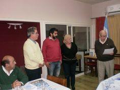Toma de compromiso al nuevo socio Ing. Lucas Claudio Acevedo — con Adelmo Espinoza y Lucas Claudio Aceveddo.