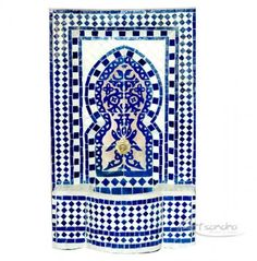 Fuente árabe azul de Féz